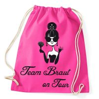 "Rucksack ""Team Braut on Tour"" - Pink"