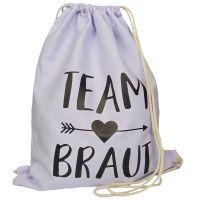 """Rucksack """"Team Braut"""" - Pfeil - Flieder"""