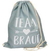 """Rucksack """"Team Braut"""" - Pfeil - Grau"""
