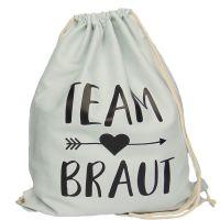 "Rucksack ""Team Braut"" - Pfeil - Hellgrau"