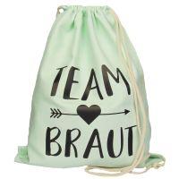 "Rucksack ""Team Braut"" - Pfeil - Mint"