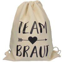"Rucksack ""Team Braut"" - Pfeil - Naturfarben"