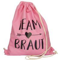 "Rucksack ""Team Braut"" - Pfeil - Rosa"