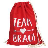 "Rucksack ""Team Braut"" - Pfeil - Rot"