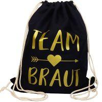 """Rucksack """"Team Braut"""" - Pfeil - Schwarz"""
