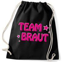 """Rucksack """"Team Braut"""" mit Sternen"""