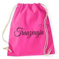 """Rucksack """"Trauzeugin"""" mit Herzen - Pink"""