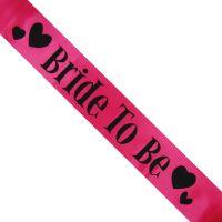 Schärpe Bride to be - Pink mit Herzen