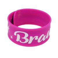 Pinkfarbenes JGA Braut-Schnapparmband mit Sparks-Motiv