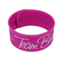 "Schnapparmband ""Team Braut"" - Sterne - Pink"