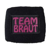 JGA-Schweißarmband mit Team-Braut-Motiv in Schwarz