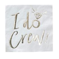 "Servietten ""I do Crew"" - Weiß"