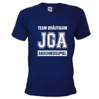 Abschiedsspiel - Blaues JGA T-Shirt im Football-Design