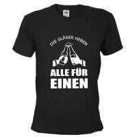 """T-Shirt """"Alle für einen"""" - Schwarz"""