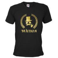 "T-Shirt ""Bräutigam"" - Deluxe - Schwarz"
