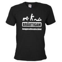 Schwarzes Bräutigam T-Shirt mit Saufschild-Aufdruck