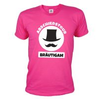 "T-Shirt ""Bräutigam"" - Zylinder - Pink"