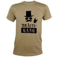 """T-Shirt """"BräutiGANG"""" - Khaki"""