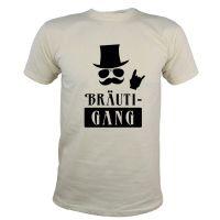 "T-Shirt ""BräutiGANG"" - Naturfarben"