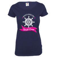 "T-Shirt ""Braut Crew"" - Blau"