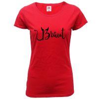 """T-Shirt """"Braut"""" - Teufel - Rot"""