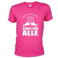 """T-Shirt """"Einer für alle"""" - Bräutigam - Pink"""