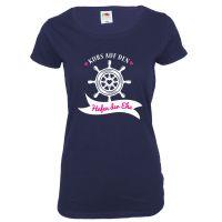 """T-Shirt """"Hafen der Ehe"""" - Blau"""