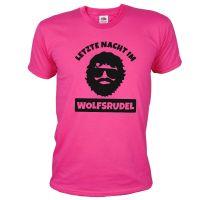 """T-Shirt """"Wolfsrudel"""" - Alan - Pink"""