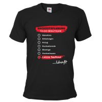 Schwarzes Herren JGA-Shirt mit Hochzeitsplanung läuft-Motiv