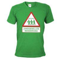 """T-Shirt """"Junggesellen Wanderung"""" - Grün"""