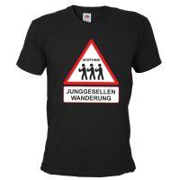 """T-Shirt """"Junggesellen Wanderung"""" - Schwarz"""