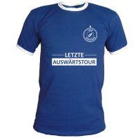 """T-Shirt """"Letzte Auswärtstour"""" - Dunkelblau"""