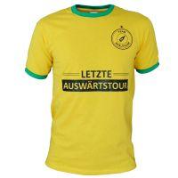 """T-Shirt """"Letzte Auswärtstour"""" - Gelb"""