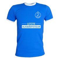 """T-Shirt """"Letzte Auswärtstour"""" - Royalblau"""