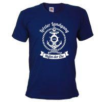 "T-Shirt ""Letzter Landgang"" - Dunkelblau"