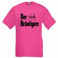 """T-Shirt """"Der Bräutigam"""" in Pink"""