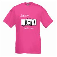 "T-Shirt ""JGA"" - Name - Bräutigam"