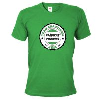 Grünes Herren JGA-Shirt mit Prädikat Randvoll-Aufdruck