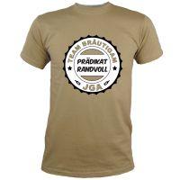 """T-Shirt """"Prädikat Randvoll"""" - Khaki"""