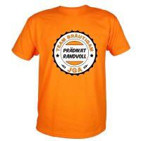"T-Shirt ""Prädikat Randvoll"" - Orange"