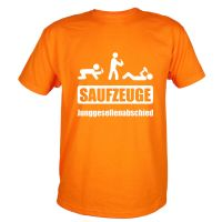 "T-Shirt ""Saufzeuge"" - Orange"