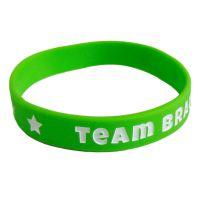 Grünes Silikon-Armband mit Team Braut-Schriftzug - Junggesellinnenabschied