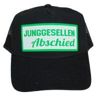 Schwarzes Trucker-Cap mit Junggesellenabschied-Aufdruck