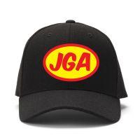 Schwarze Superhero Cap mit gelbem JGA-Logo