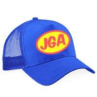 JGA Superhelden-Mütze in Blau - Seitenansicht