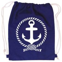 Blauer Rucksack mit Anker für Matrosenkostüme