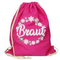 """Rucksack """"Braut"""" - Blumenkranz - Pink"""
