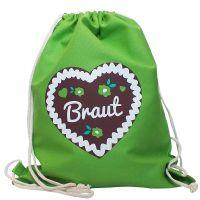 """Rucksack """"Braut"""" - Lebkuchenherz - Grün"""
