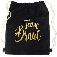 """Rucksack """"Team Braut"""" - Glamour - Schwarz"""