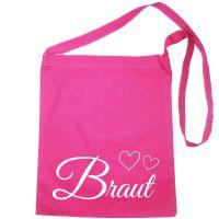 """Umhängetasche """"Braut"""" mit Herzen - Pink"""